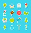 gardening spring stickers vector image