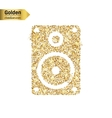 Gold glitter icon of music column isolated vector image vector image