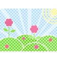 Grass And Flower On Green Meadow vector image vector image