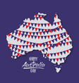 happy australia day poster with festoons in vector image vector image