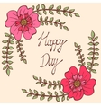 happy day vintage colorful background vector image vector image