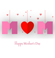 happy mothers day card for your design vector image vector image
