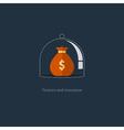 Insurance finance management budget plan pension vector image