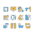 Interor desig icons isolated vector image vector image
