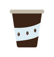 isolated coffee drink vector image vector image