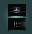modern business card design vector image