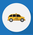 of vehicle symbol on taxi flat vector image vector image