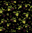 olive branch seamless pattern olive background vector image vector image