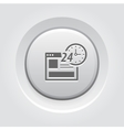 Online Shopping Icon Grey Button Design vector image
