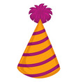 party hat for celebration birthdays headwear vector image
