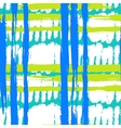 Pattern with wide brushstrokes and stripes in vector image vector image