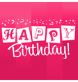 Pink Birthday Greeting Card vector image vector image