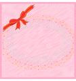 Pink greeting postcard vector image vector image