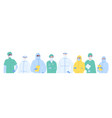 portrait diverse team medical specialists in vector image vector image