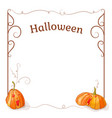 pumpkin frame for your tex vector image vector image