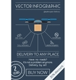 Quadrocopter delivery flat infographic vector image