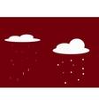 rain and snow-01 vector image