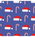 Red Hat and Candy Cane Seamless Pattern vector image vector image