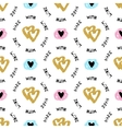 Romantic seamless pattern repeating love vector image
