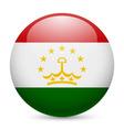 Round glossy icon of tajikistan vector image vector image