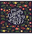 save date card vector image vector image