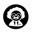 scientist professor icon vector image