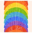 Seamless vertical pattern with rainbow vector image
