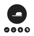 set of 5 editable air icons includes symbols such vector image