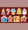 set of light christmas symbols vector image vector image