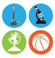 set of school icons vector image vector image