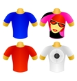 Set of T-shirts vector image vector image