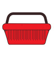 shopping basket colored button with a black vector image vector image