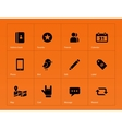 Social icons on orange background vector image vector image