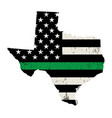 state texas military support american flag vector image vector image