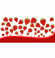 strawberry pattern on white background vector image vector image