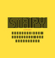 striped font design vector image vector image