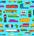 traffic jam transport car vehicle and bus vector image vector image