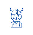 viking line icon concept viking flat vector image vector image