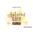 vintage autumn season sale vector image