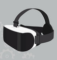 vr headset icon on a grey background vector image