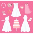 wedding elements vector image