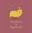 year of the pig hearts and crown vector image