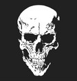 skull with a lower jaw print hand drawn detailed vector image