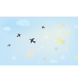 Banner with air in the sky vector image