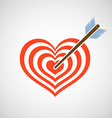 Logo heart as a target and arrow vector image