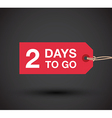 2 days left sale vector image vector image
