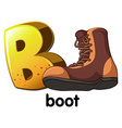 A letter B for boot vector image vector image