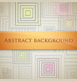 abstract background with squares and orange label vector image vector image