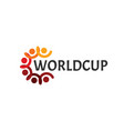 abstract worldcup logo people with hand and head vector image