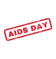 AIDS Day Text Rubber Stamp vector image vector image
